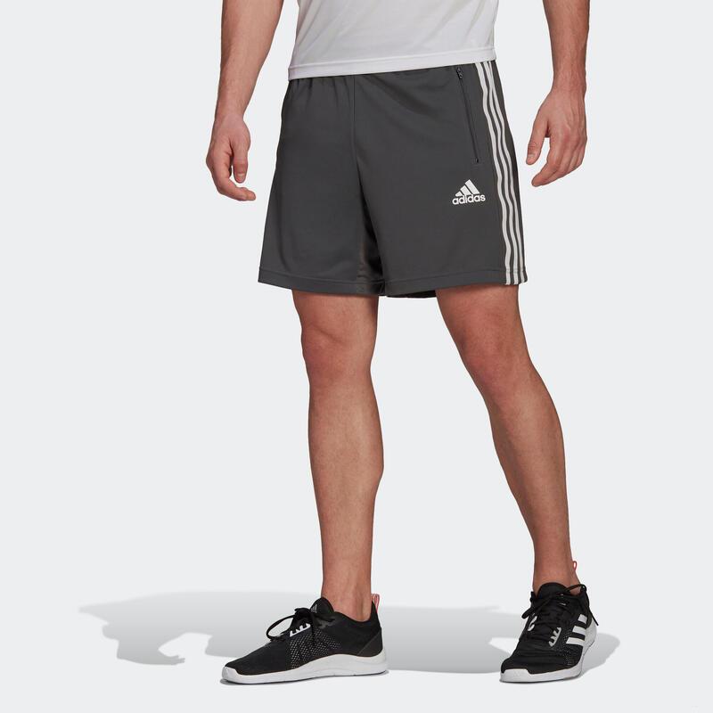 Fitness Training 3-Stripe Shorts - Grey