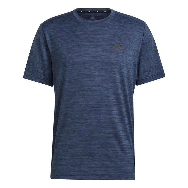 T shirt Adidas Fitness bleu chiné