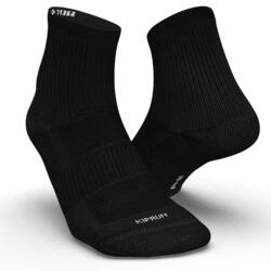 2雙入環保設計中筒跑步襪RUN500 - 黑色