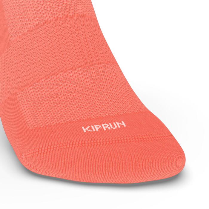 兩雙入中筒跑步襪RUN500 - 珊瑚粉