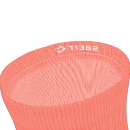 Calcetines Running Run500 Rosa Coral Media Altura x2