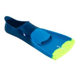 Korte zwemvliezen Silifins driekleurig blauw geel