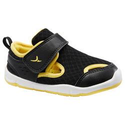 Turnschuhe 700 I Learn Babyturnen schwarz/gelb