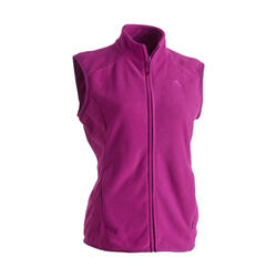 Women's Mountain Walking Fleece Gilet MH120 - Plum