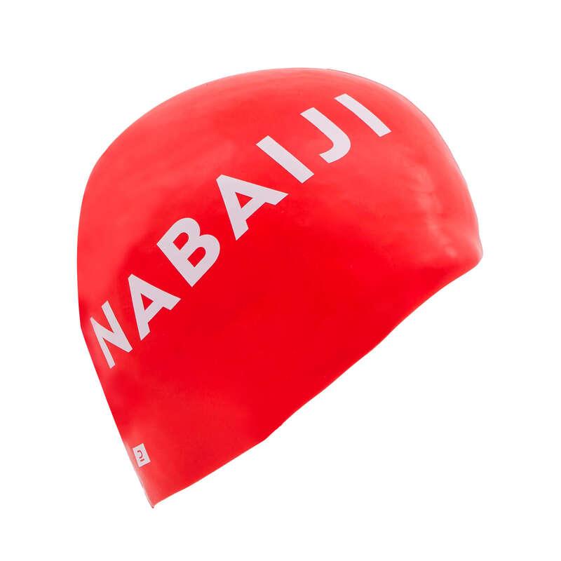 Úszósapka Triatlon - Szilikon úszósapka, piros  NABAIJI - Triatlon felszerelés