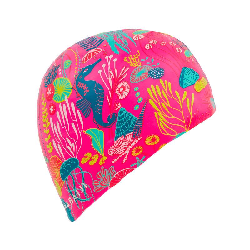 หมวกว่ายน้ำซิลิโคน (พิมพ์ลาย)