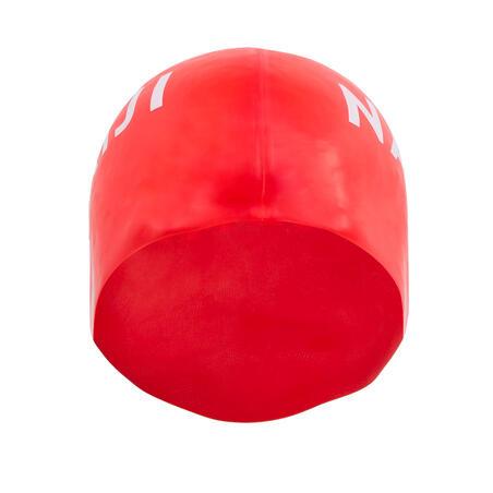 Silikoninė maudymosi kepuraitė, raudona