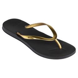 Slippers voor dames 500 zwart