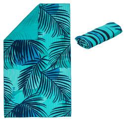 Microvezel handdoek geribbeld print maat XL 110 x 175 cm