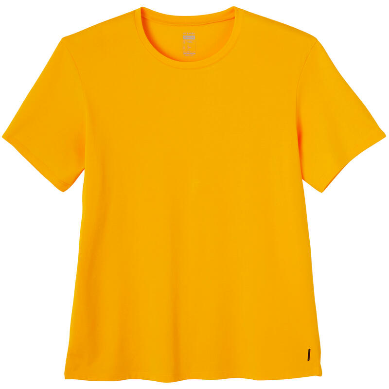 Fitness Stretch Cotton T-Shirt - Yellow