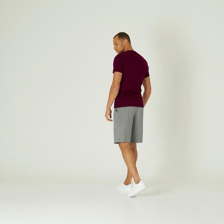 Playera algodón extensible Fitness Slim Burdeos
