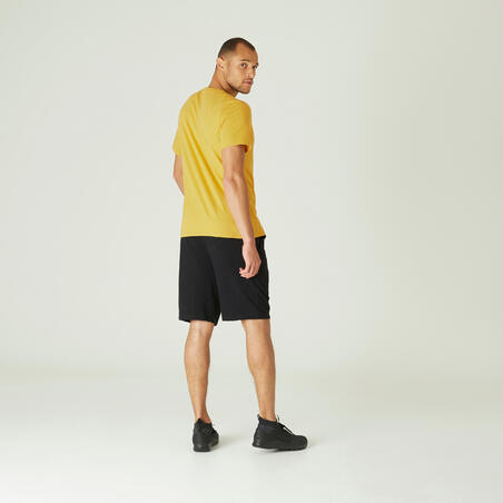 500 stretchy fitness T-shirt - Men