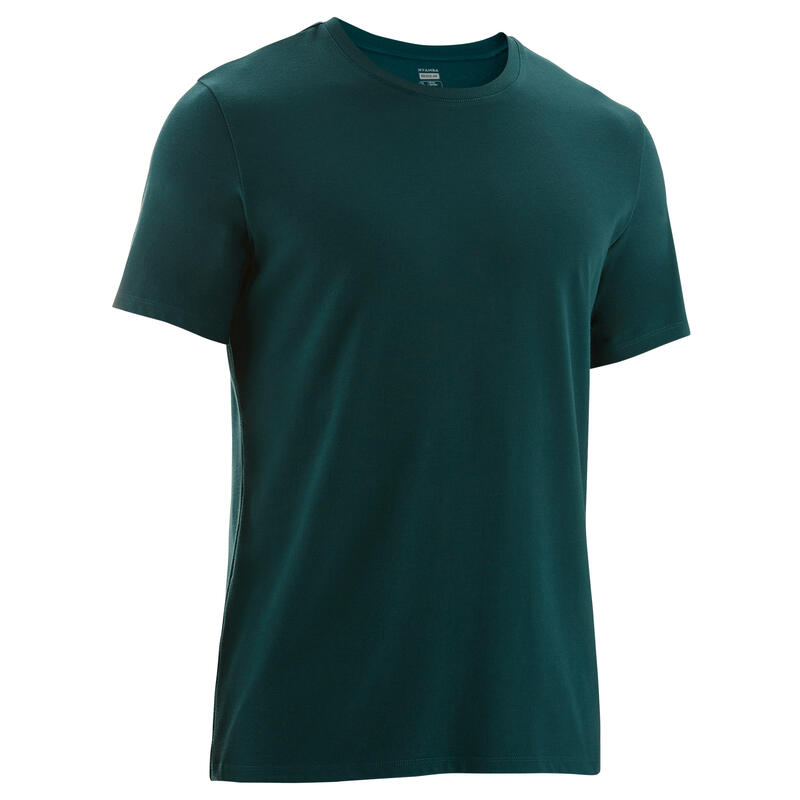 Fitness Stretch Cotton T-Shirt - Turquoise
