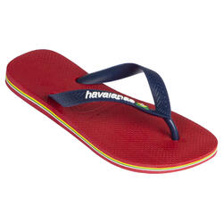 Chinelos de Surf Homem Logo Vermelho