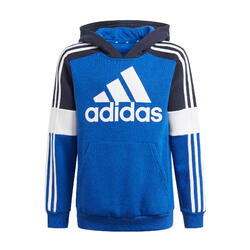 SWEAT A CAPUCHE ADIDAS COLORBLOCK BLEU ENFANT