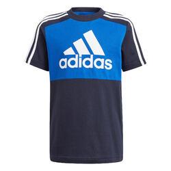 T-Shirt Colorblock Kinder blau
