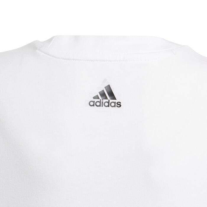 T-Shirt Linear Kinder weiß