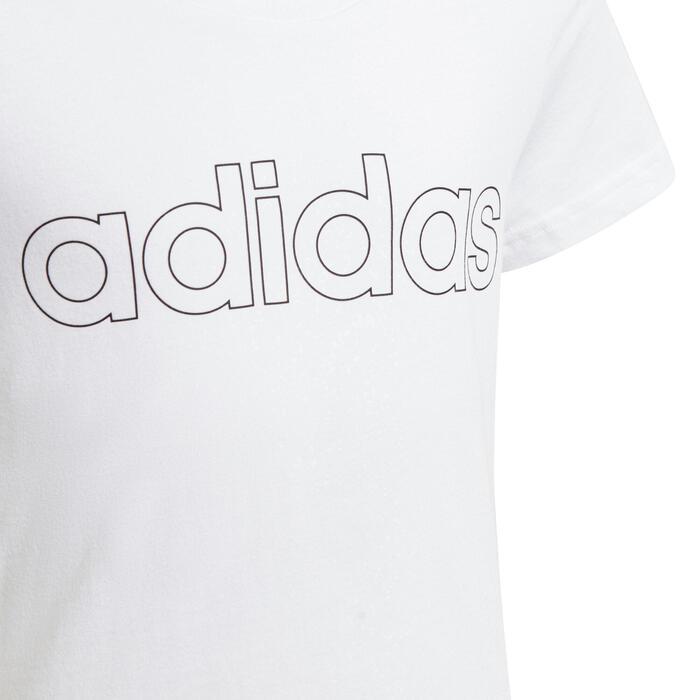 T-Shirt Linear Mädchen weiss