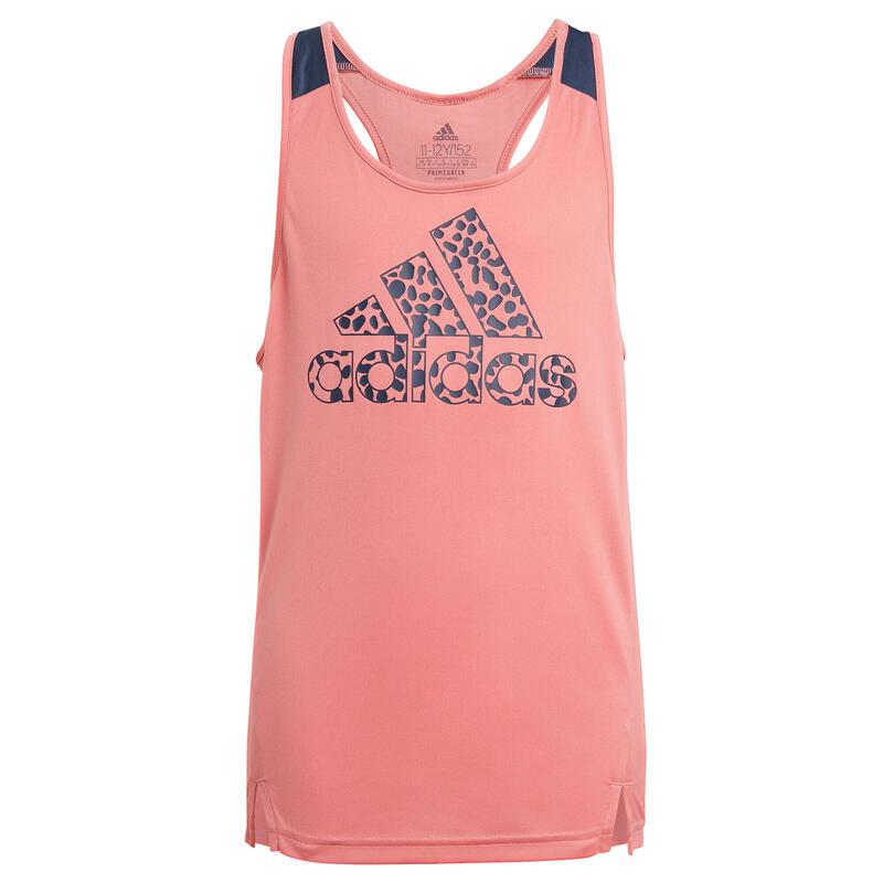 Meisjestopje luipaardpatroon roze / blauw