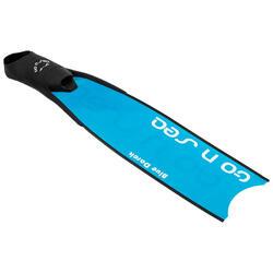 Freedive vinnen GO N SEA - BLUE DARCK met blad in glasvezel blauw