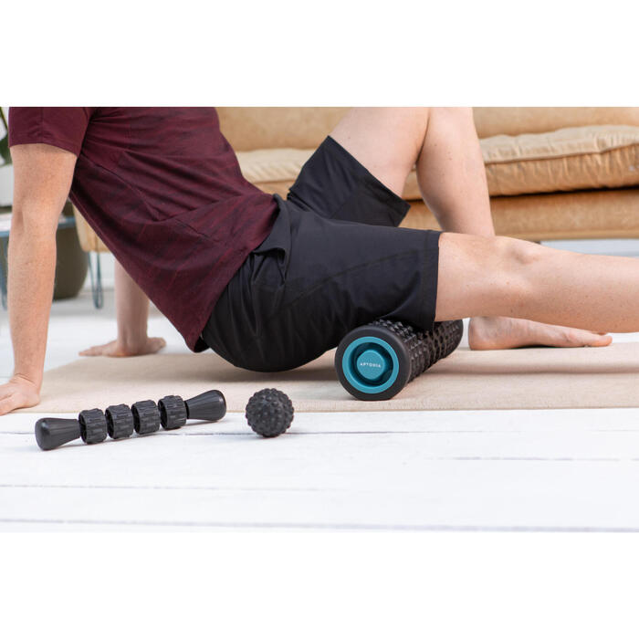 Kit de massage: rouleau de massage/ foam roller, balle, bâton de massage