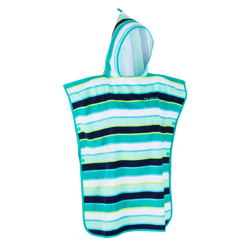 KIDS' SURFING PONCHO 500 (110 to 135 cm) Lines