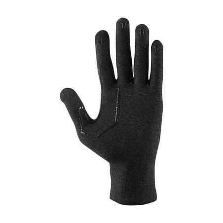 Sous-gants randonnée en montagne RANDO 500 noirs
