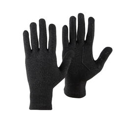 Unisex Mountain Trekking Touchscreen-Compatible Liner Gloves Trek 500 - Black