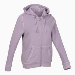 保暖健身拉練連帽外套 - 紫色