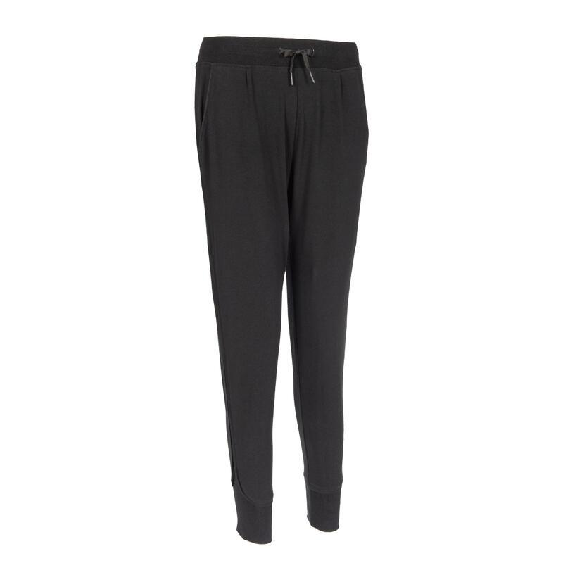 女款慢跑長褲500 - 黑色