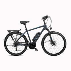 E-Bike Trekkingrad 28 Zoll Riverside Perf Line Herren 400 Wh anthrazit/blau