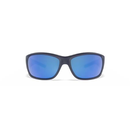 Lunettes de soleil polarisées flottantes voile enfant SAILING 100 bleu foncé