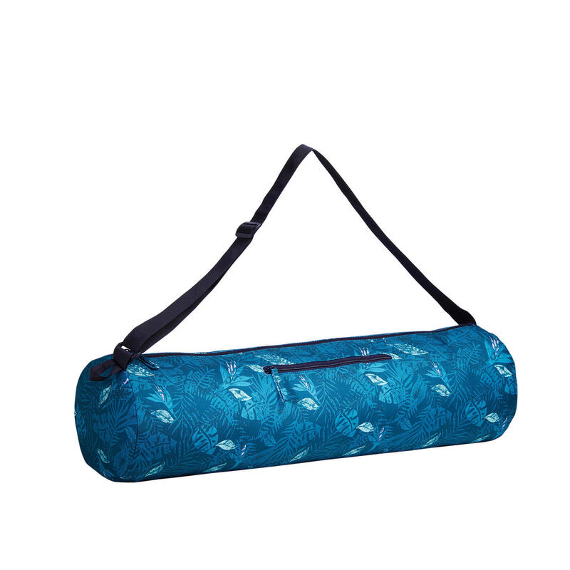 Borsa tappetino yoga blu con stampa