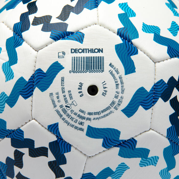 BALLON DE FOOTBALL DANONE NATIONS CUP TAILLE 5 BLANC