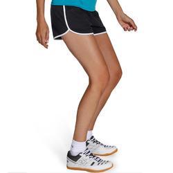Pantalón corto de voleibol mujer V100 negro blanco