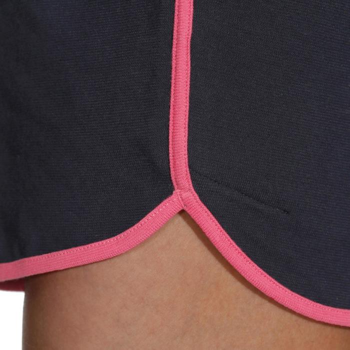 Volleybalshort dames V100 marineblauw roze