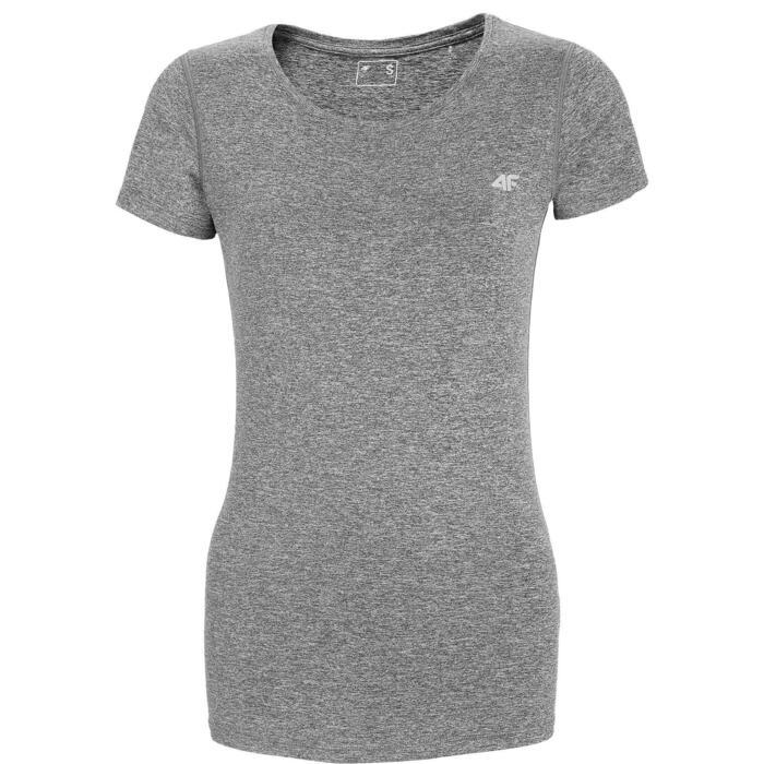 T-shirt cardio mulher cinza TSDF002 4F