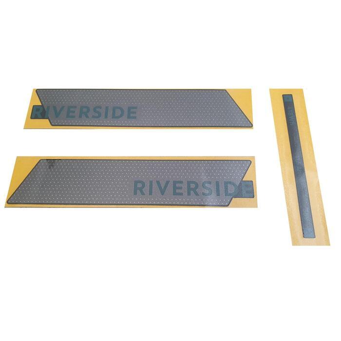 Sticker de batterie Riverside 500E gris vert