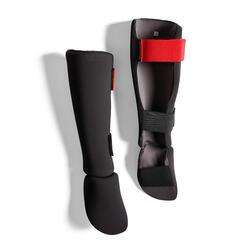 成人款脛骨與足部護具100 Ergo - 黑色