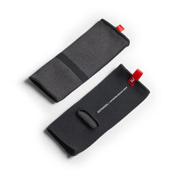 Enkelbeschermer voor thaiboksen volwassenen zwart/rood