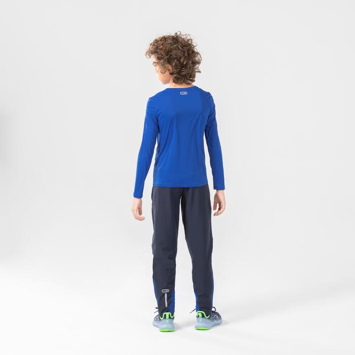 Quần dài chạy bộ trọng lượng nhẹ AT 100 cho trẻ em - Xanh dương