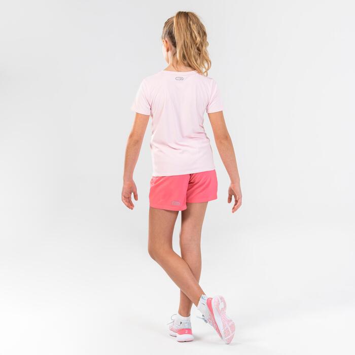 女童田徑短褲AT 100 - 粉色