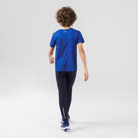 AT 100 kid's athletics T-shirt breathable electric blue