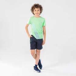 兒童寬鬆跑步和田徑短褲AT 100 - 軍藍色