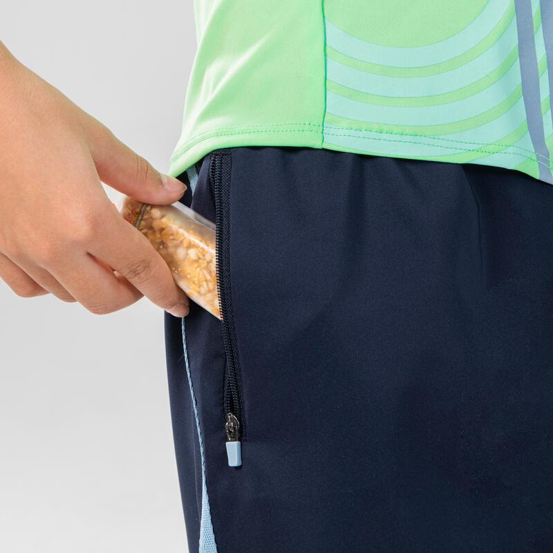 กางเกงขาสั้นเด็กทรงหลวมสำหรับวิ่งและกรีฑารุ่น AT 100 (สีกรมท่า)