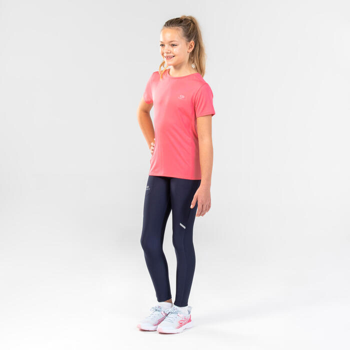 AT 100 kid's athletics T-shirt breathable pink