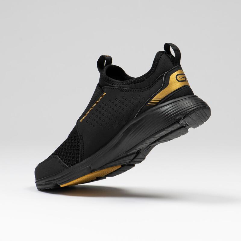 รองเท้าวิ่งและกรีฑาสำหรับเด็กรุ่น Run Support (สีดำ/ทอง)