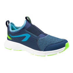 KIDS' ATHLETICS SHOES - KALENJI RUN SUPPORT EASY - BLUE AND GREEN