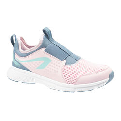 KIDS' ATHLETICS SHOES - KALENJI RUN SUPPORT EASY - PINK AND GREY