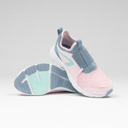 Kids' Running and Athletics Shoes Run Support Easy - pink and grey